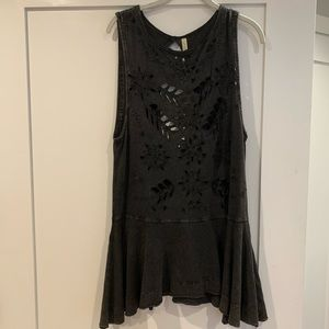 Free People top with front and back cutouts